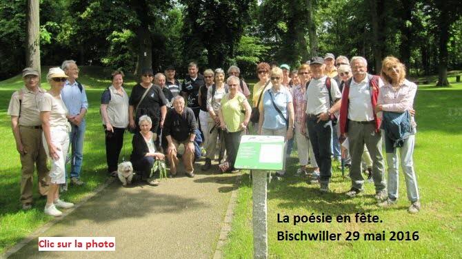 Sentier des poètes Bischwiller 29 mai