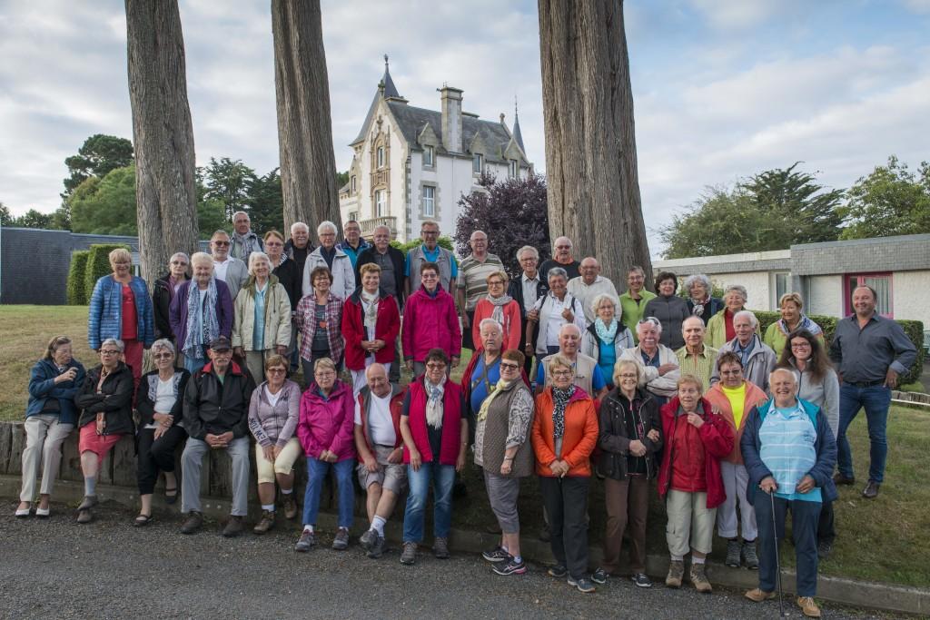 Relâche du club vosgien de Haguenau-Lembach au manoir de Kérallic (Bretagne)